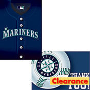 Seattle Mariners Invitation/Thank You Set 16ct
