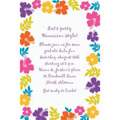 Hibiscus White Custom Invitation