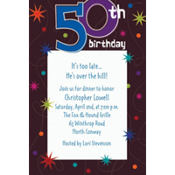 The Party Continues 50th Birthday Custom Invitation