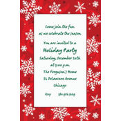 Elegant Red Custom Invitation