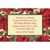 Snowy Botanical Custom Invitation