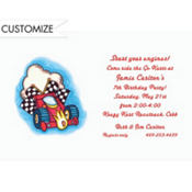 Formula 1 Racecar Custom Invitation