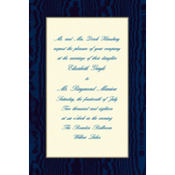 Navy Moire/Ecru Custom Invitation