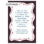 Over the Hill 40 Custom Invitation