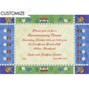 Country Patchwork Custom Invitation