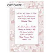 Soft Vintage Flowers Custom Invitation