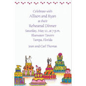Wacky Wedding Cakes Custom Invitation