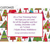 Mod Christmas Trees Custom Invitation