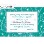 Windblown Stars Custom Invitation