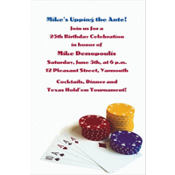 Poker Table Custom Invitation