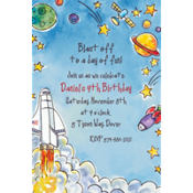 Outerspace Adventure Custom Invitation