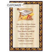 White Grad Portrait Custom Graduation Invitation