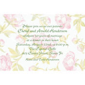 Soft Peony Background Custom Invitation