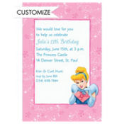 Cinderella on Pixiedust Swirls Custom Invitation