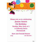 Minnie & Birthday Balloons Custom Invitation