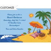 Beach Landscape Custom Invitation