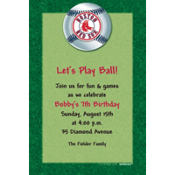 Boston Red Sox Custom Invitation