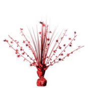 Red Foil Spray Centerpiece 12in