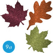Fall Leaf Assorted Glitter Cutouts 9ct