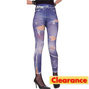 Adult Punk Graphic Jean Leggings
