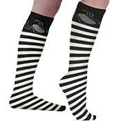 Spider Striped Over the Knee Socks