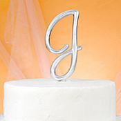 Monogram J Wedding Cake Topper