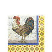 Rooster Beverage Napkins 16ct