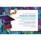 Grad Reflections Custom Graduation Invitation