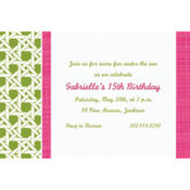 Fresh Hues Kiwi Custom Invitation