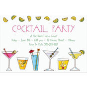 Mixed Drinks Custom Invitation
