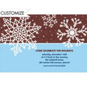 Simple Snowflake Brown Custom Invitation