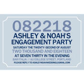 Formal Corners Gray Custom Invitation