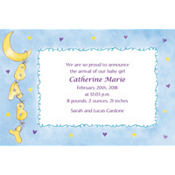 Baby Moon & Stars Custom Birth Announcements