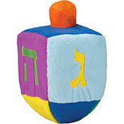 Plush Musical Dreidel 6in