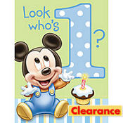 Baby Mickey Mouse 1st Birthday Invitations 8ct