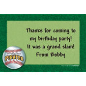 Pittsburgh Pirates Custom Thank You Note