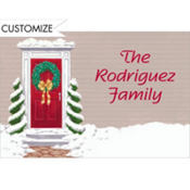 Snowy Front Door Custom Thank You Note