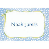 Blue Polka Dots Custom Baby Shower Thank You Note