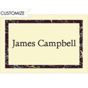 Black Marble Border/Ecru Custom Thank You Note