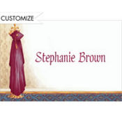 Red Graduate's Gown on Hook Custom Thank You Notes