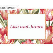 Red Parrot Tulips Custom Thank You Note