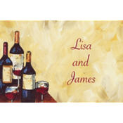Painterly Wine Tasting Custom Thank You Note