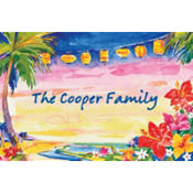 Pretty Luau Sunset Custom Thank You Note