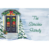 Christmas Front Door Custom Thank You Note