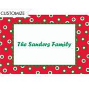 Retro Holiday Dots Custom Thank You Note