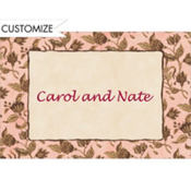Classic Toile Custom Thank You Note