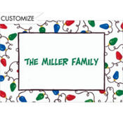 Christmas Light Tangle Custom Thank You Note