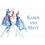 Bride & Maids Gowns Custom Wedding Thank You Note