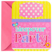 Slumber Party Large Invitations 8ct