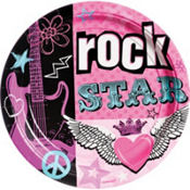 Rocker Girl Lunch Plates 8ct
